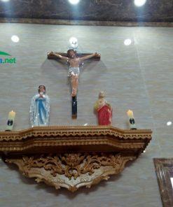 Bàn Thờ Chúa Phòng Khách đơn Giản, Sang Trọng HA91