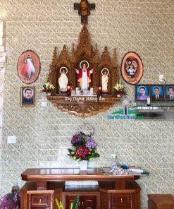 Bàn Thờ Công Giáo Treo Tường Phòng Khách NK25