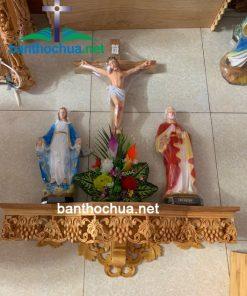 Bàn Thờ Gỗ Công Giáo đơn Giản HA04