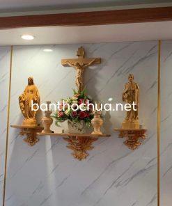 Bộ Bàn Thờ Chúa Ba Kệ Hình Chùm Nho HA99