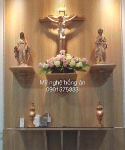 Bộ Bàn Thờ Công Giáo Ba Kệ Rời NK05