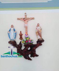 Mẫu Bàn Thờ Công Giáo Bằng Gỗ Gốc Cây BT89