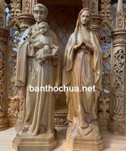 Tượng Công Giáo Đức Mẹ Lộ Đức Gỗ Pơ Mu TG03