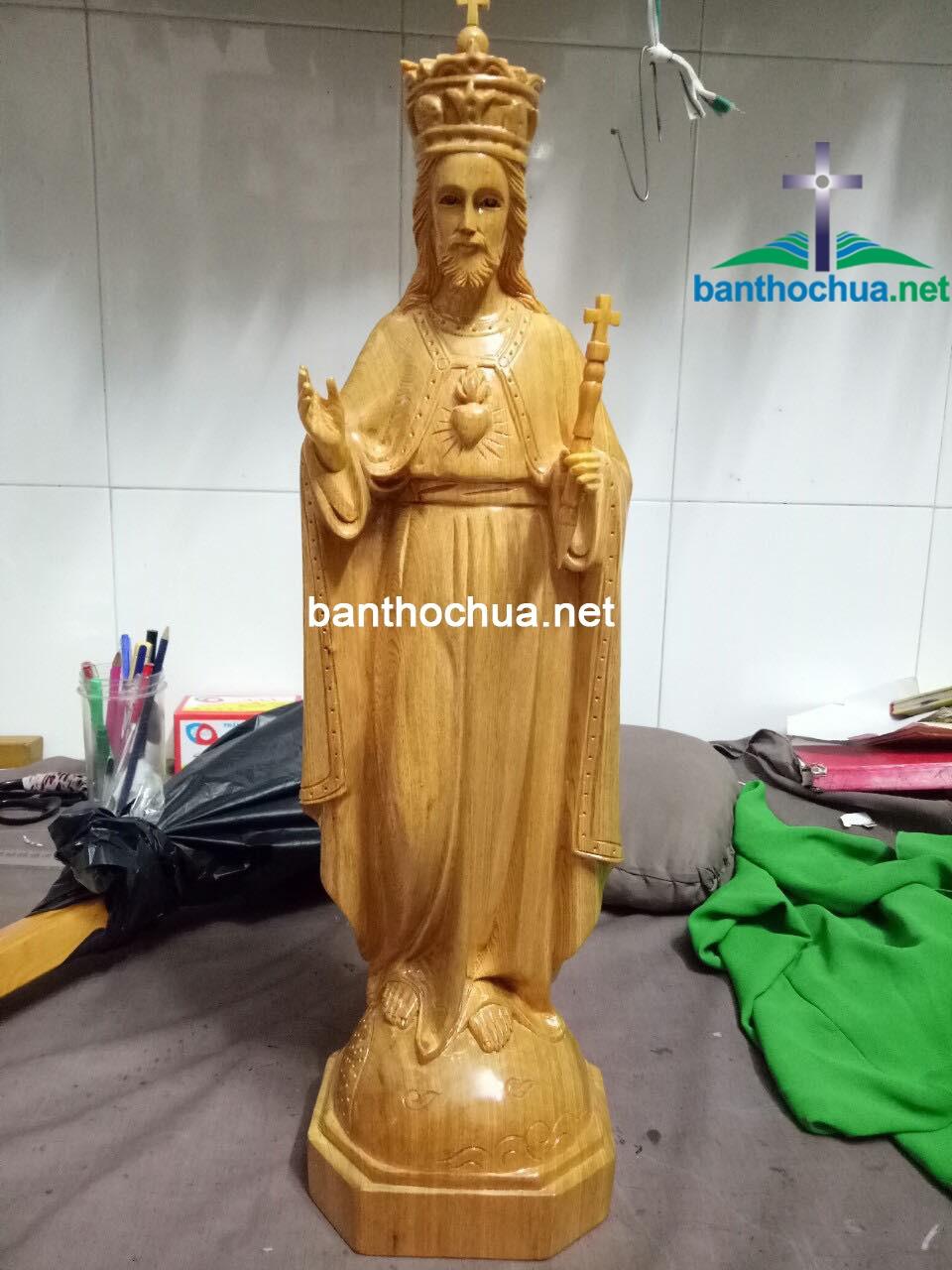 Tượng Gỗ Công Giáo Chúa Phủ Việt TC46