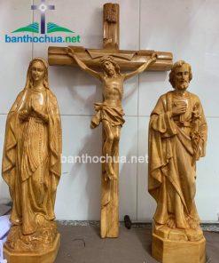 Tượng Gỗ Công Giáo Gia đình Thánh Gia TC36