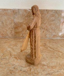 Tượng Lòng Chúa Thương Xót Gỗ Pơ Mu Cao 15cm TC99 02