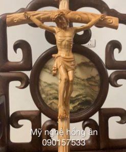 Tượng Thánh Giá Bằng Gỗ Pơ Mu TC56