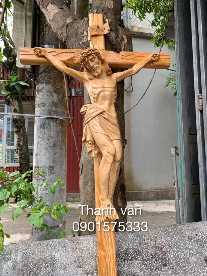 Tượng Thánh Giá Gỗ Pơ Mu TC59