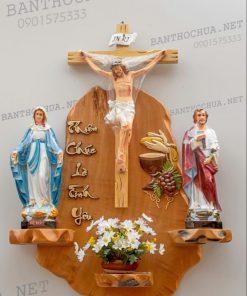Bàn Thờ Gia đình Công Giáo Mẫu đơn Giản HA11
