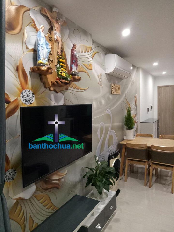 Mẫu Bàn Thờ Chúa ở Phòng Khách Cực đẹp